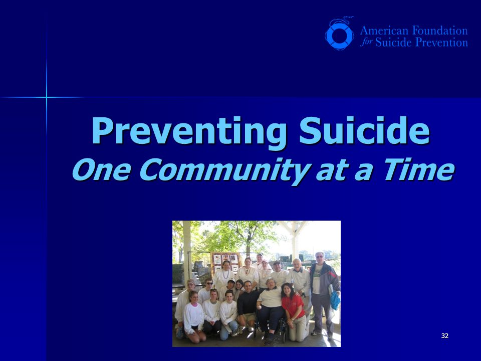 Preventing Suicide One Community at a Time