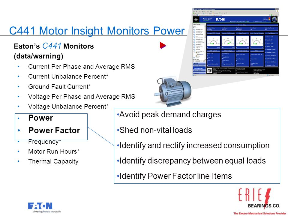 C441 Motor Insight Monitors Power