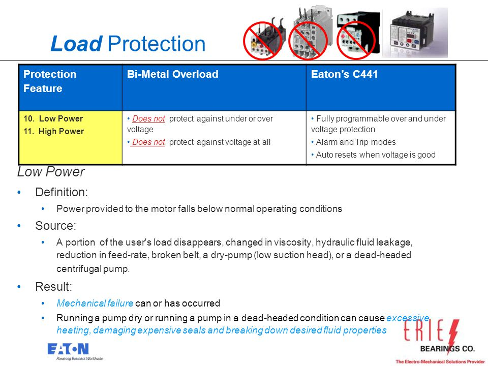 Load Protection Low Power Definition: Source: Result: