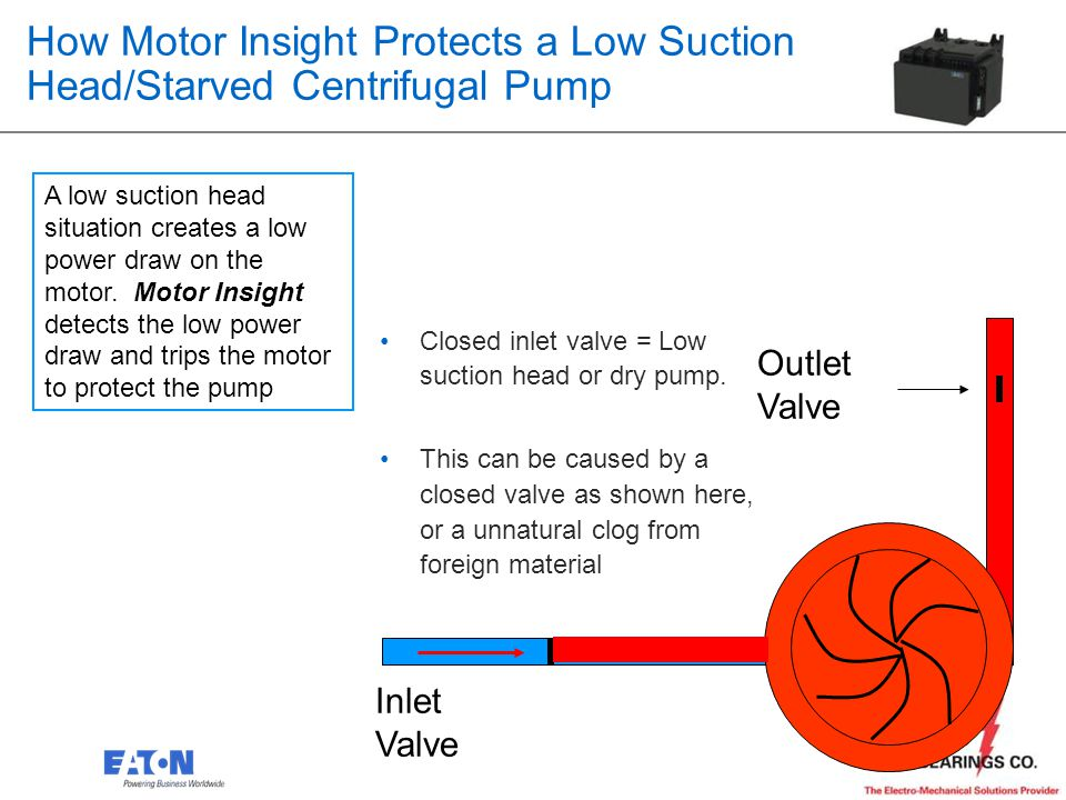 How Motor Insight Protects a Low Suction Head/Starved Centrifugal Pump