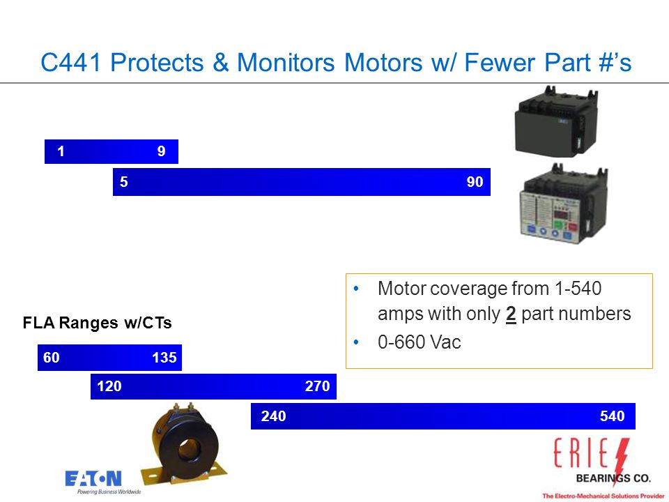 C441 Protects & Monitors Motors w/ Fewer Part #'s
