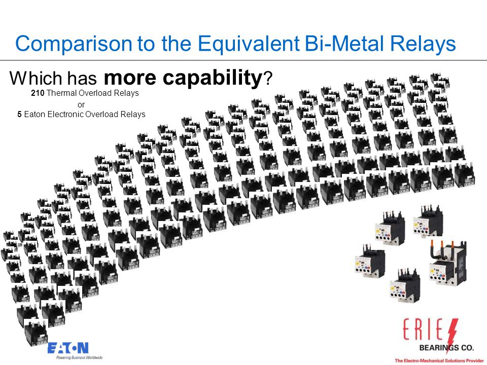 Comparison to the Equivalent Bi-Metal Relays