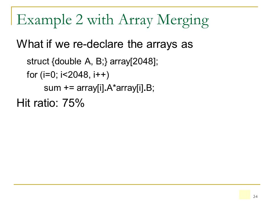 Example 2 with Array Merging