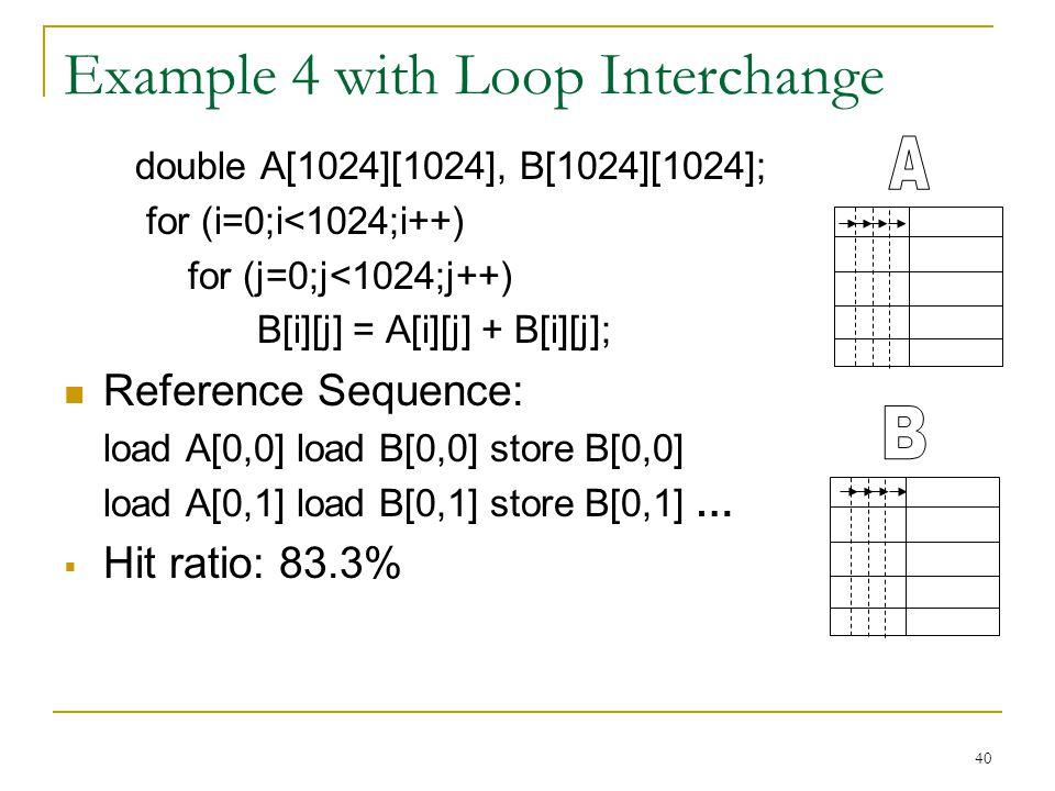 Example 4 with Loop Interchange