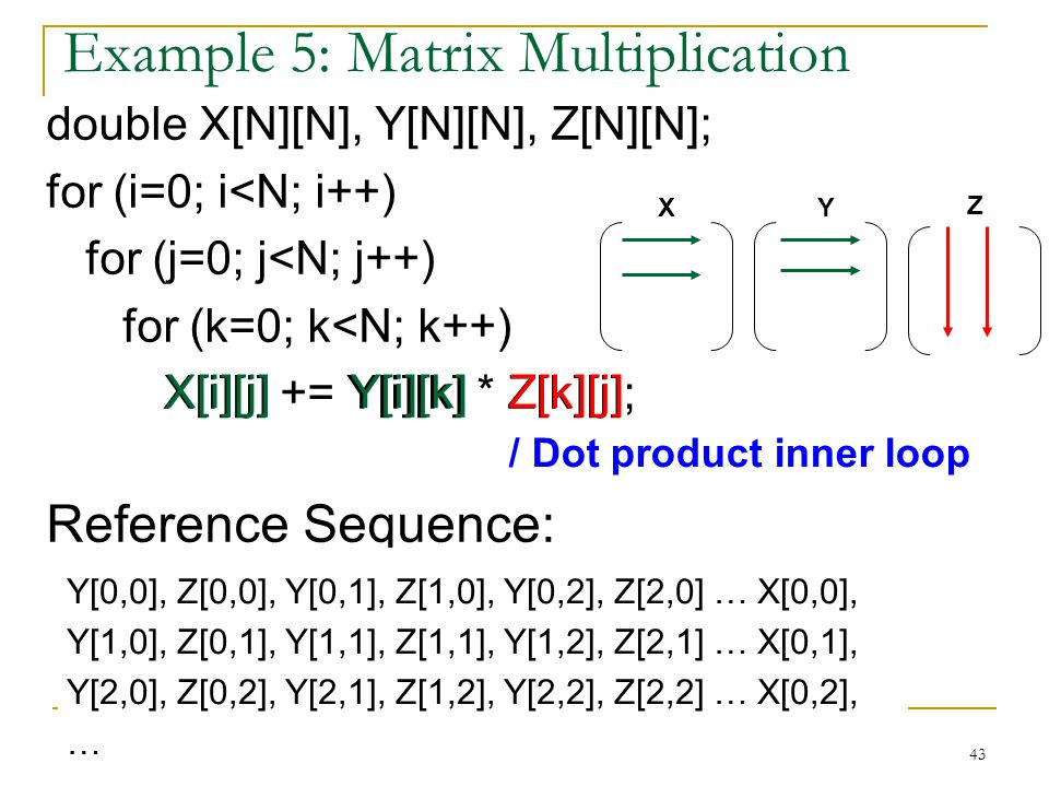 Example 5: Matrix Multiplication