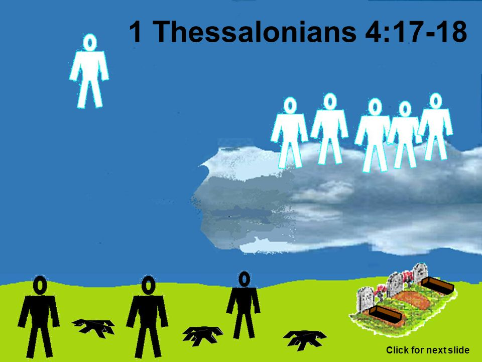 1 Thessalonians 4:17-18 Click for next slide