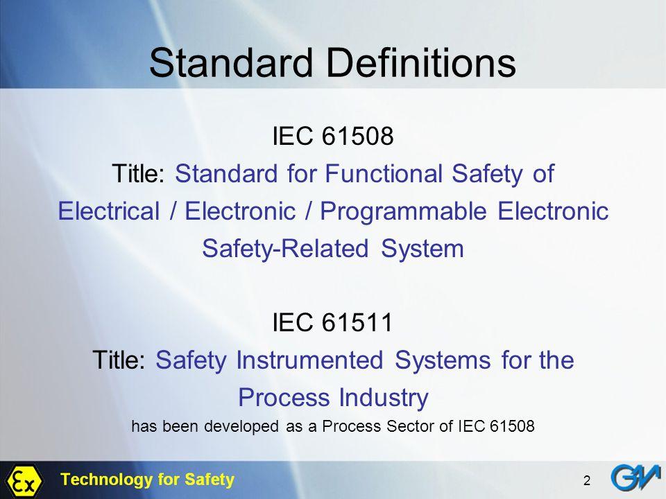 Standard Definitions IEC 61508