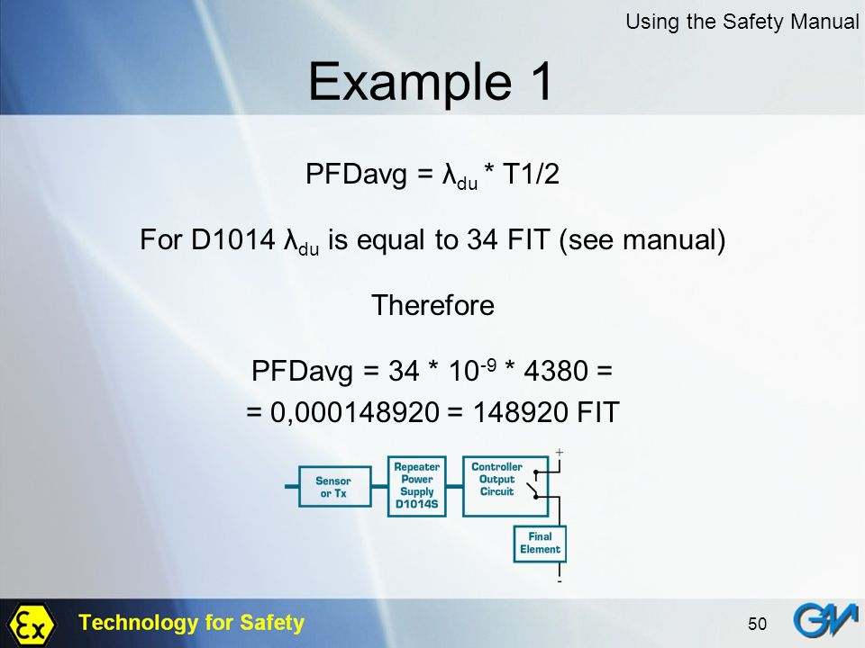 For D1014 λdu is equal to 34 FIT (see manual)