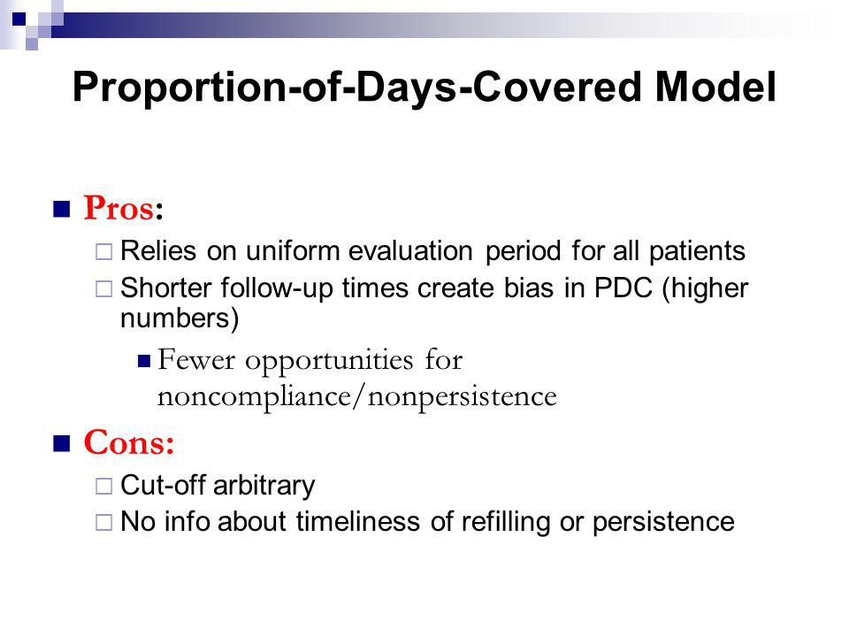 Proportion-of-Days-Covered Model