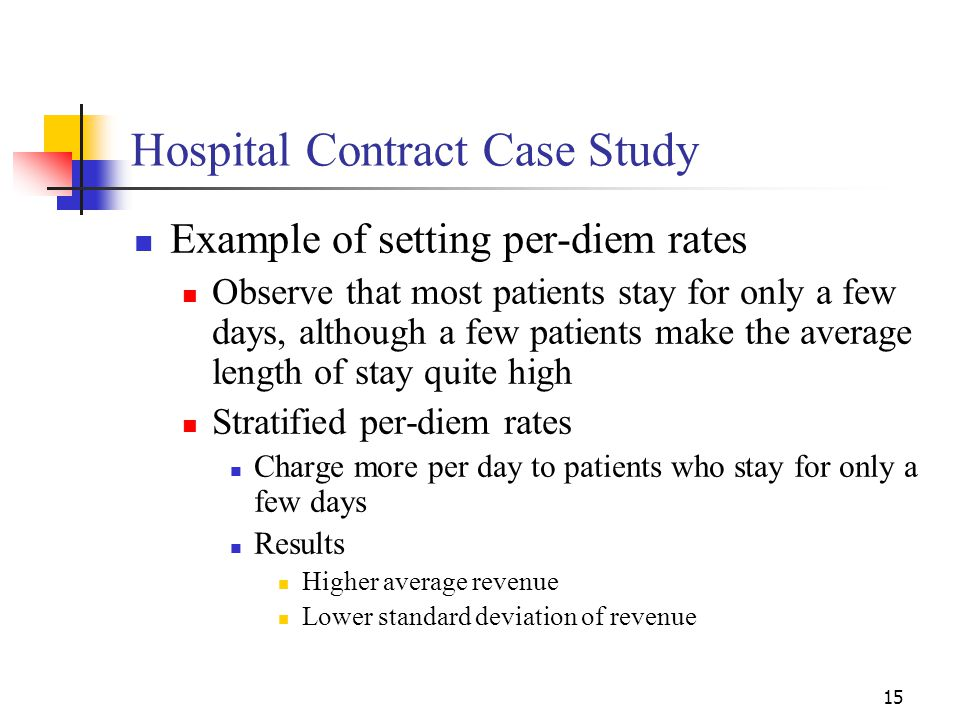 Hospital Contract Case Study