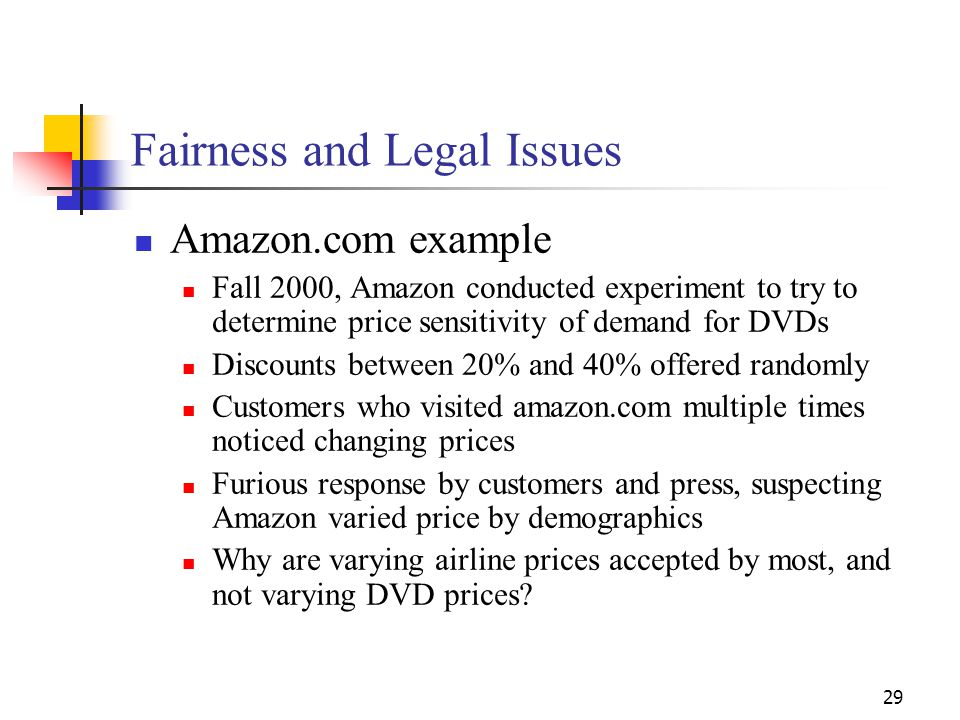 Fairness and Legal Issues
