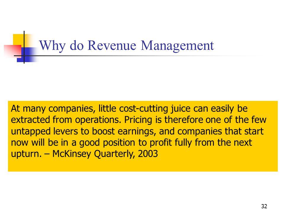 Why do Revenue Management
