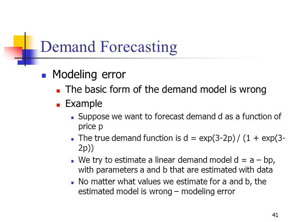 Demand Forecasting Modeling error