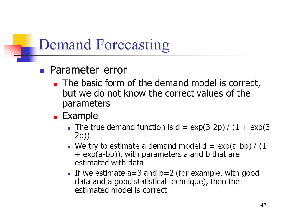 Demand Forecasting Parameter error
