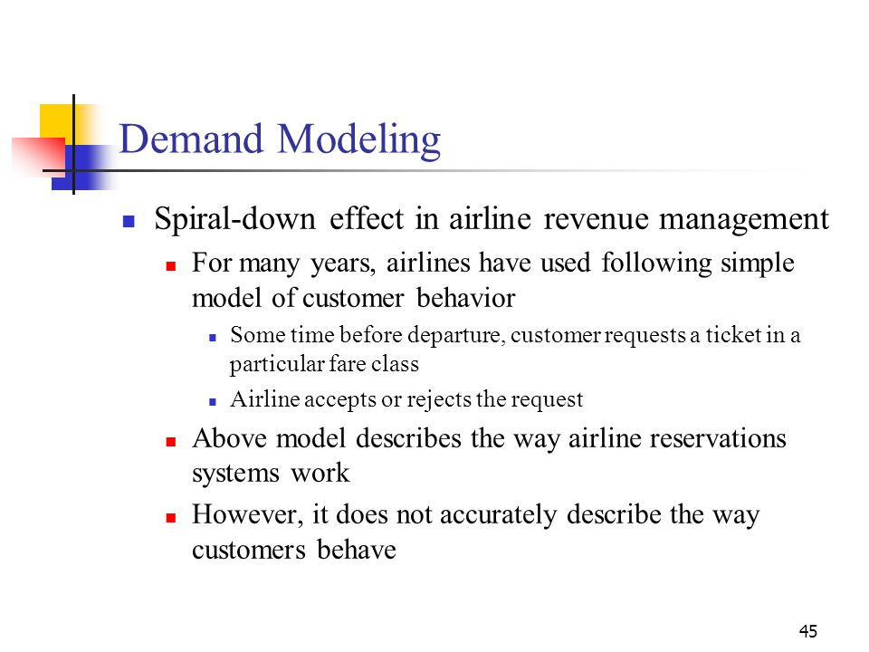 Demand Modeling Spiral-down effect in airline revenue management