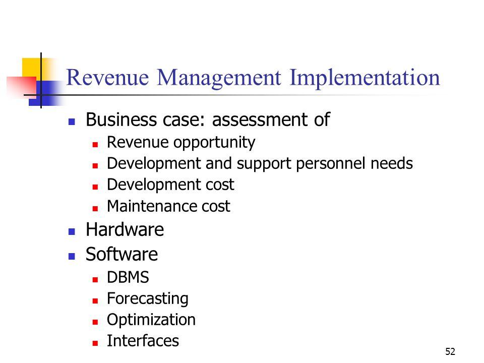 Revenue Management Implementation