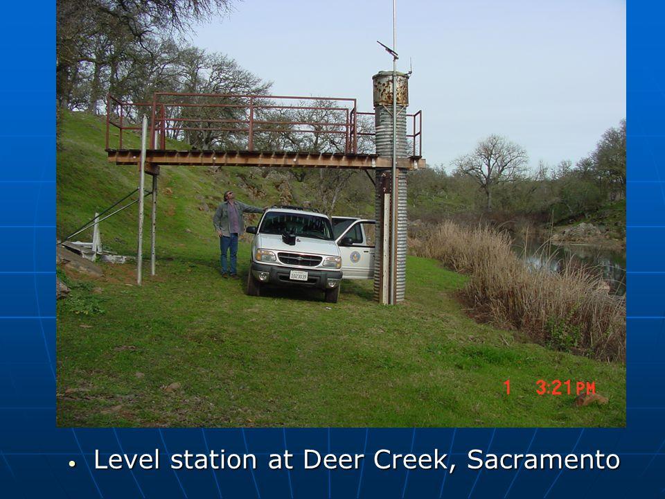Level station at Deer Creek, Sacramento