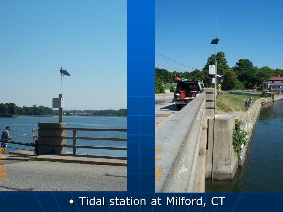 Tidal station at Milford, CT