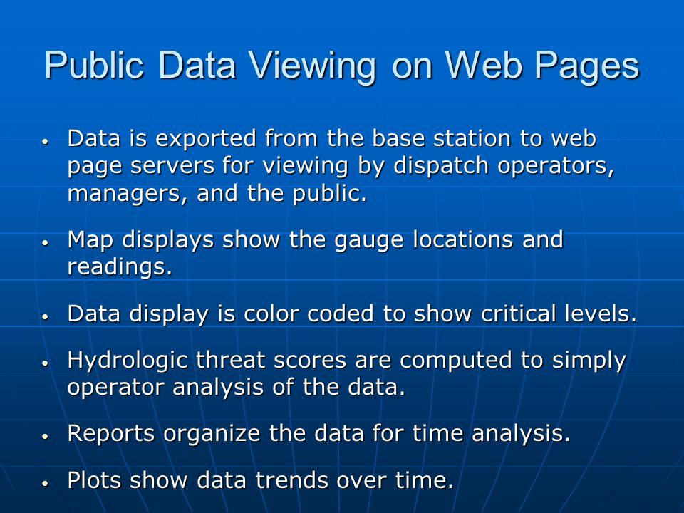 Public Data Viewing on Web Pages