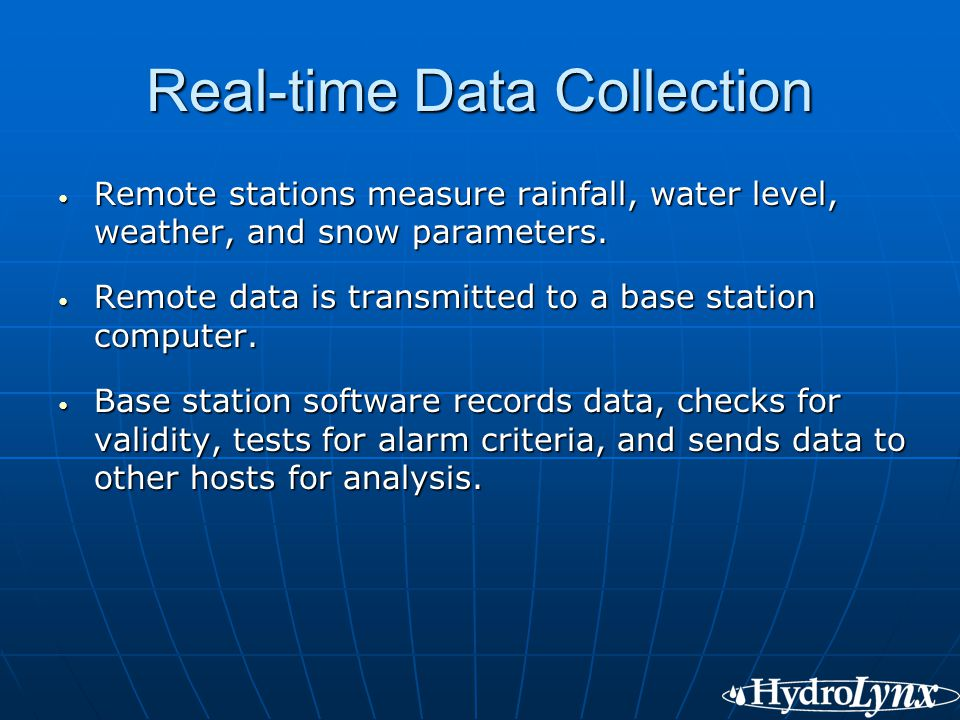 Real-time Data Collection
