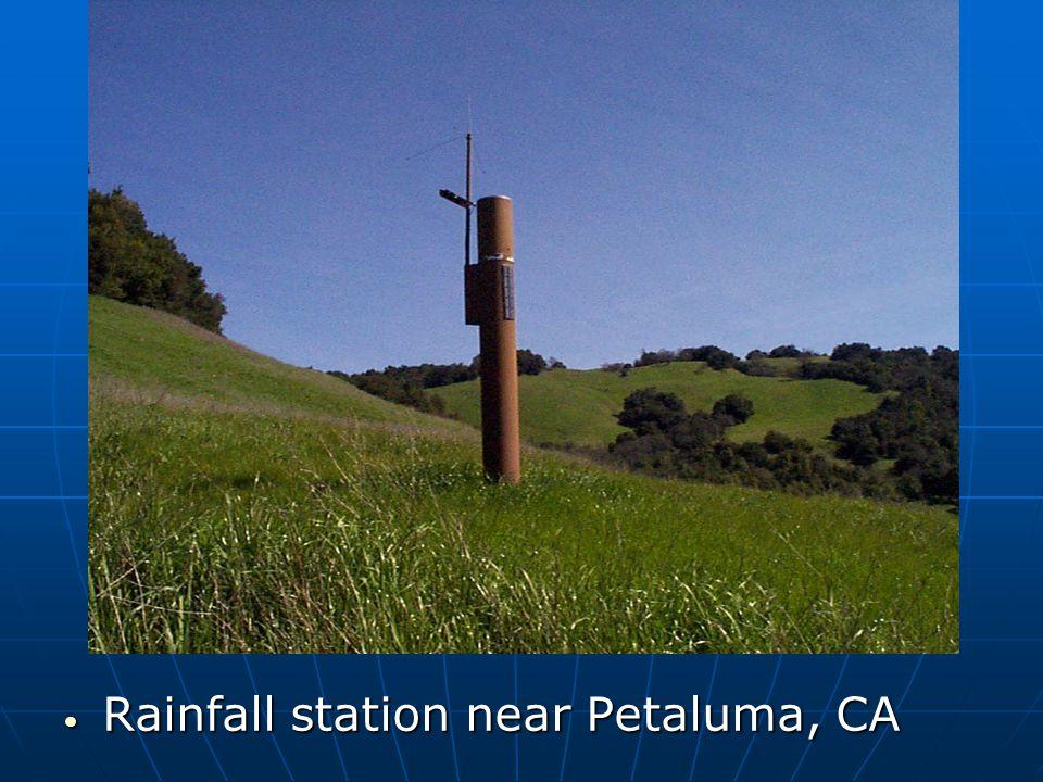Rainfall station near Petaluma, CA