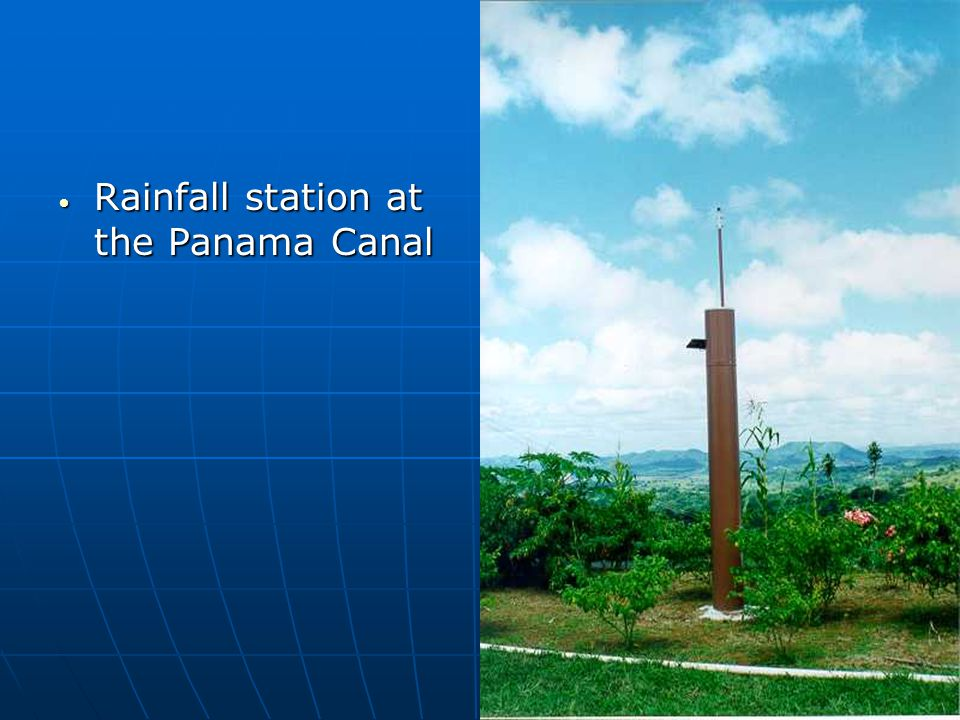 Rainfall station at the Panama Canal