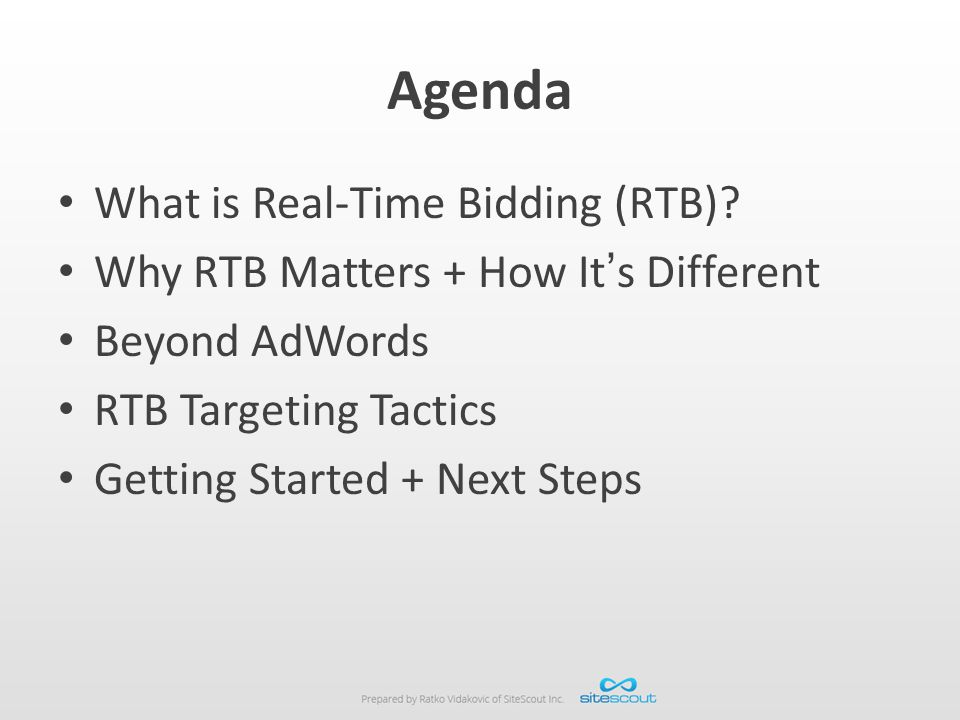 Agenda What is Real-Time Bidding (RTB)