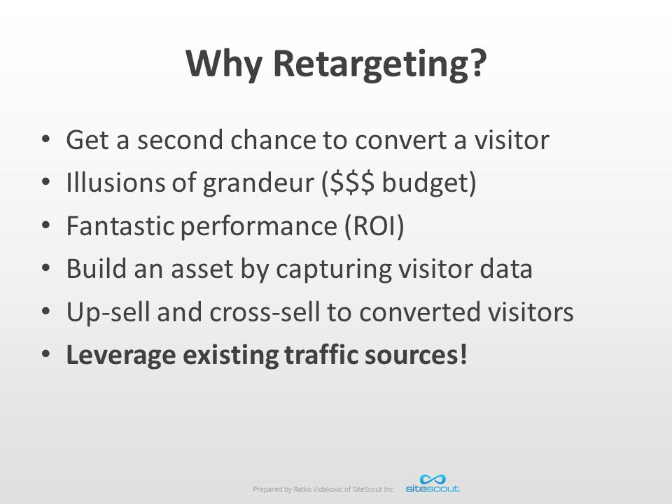 Why Retargeting Get a second chance to convert a visitor
