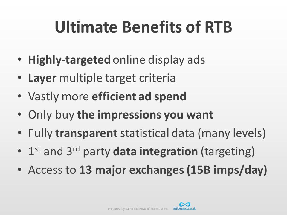 Ultimate Benefits of RTB