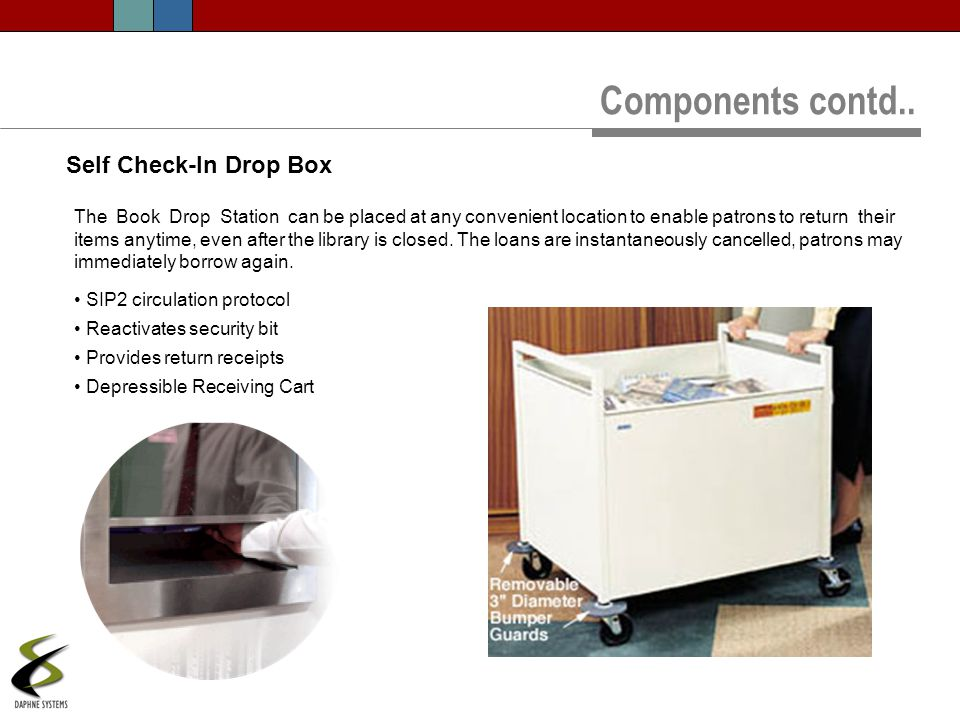 Components contd.. Self Check-In Drop Box