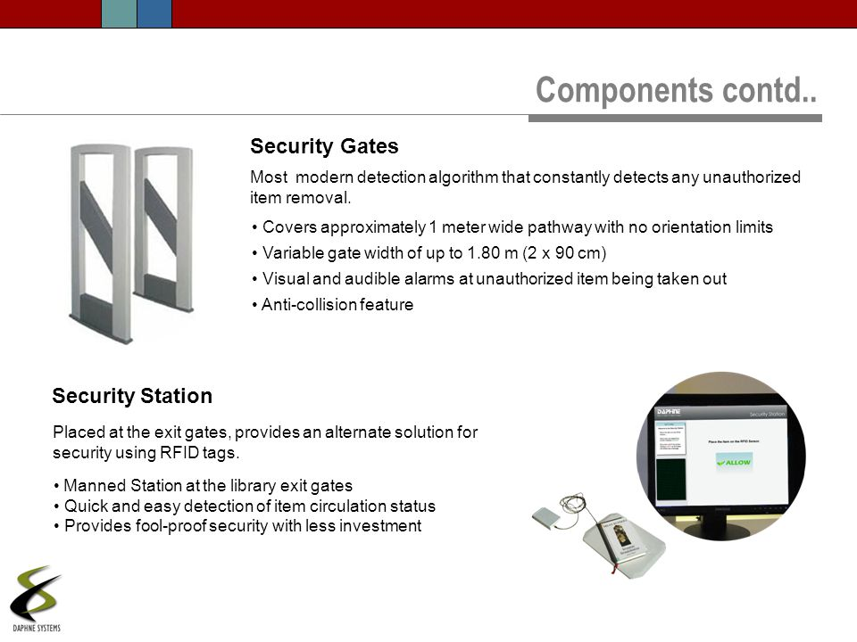 Components contd.. Security Gates Security Station