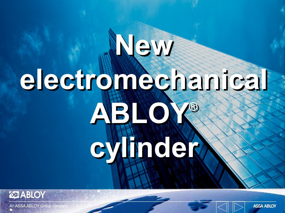 New electromechanical ABLOY® cylinder