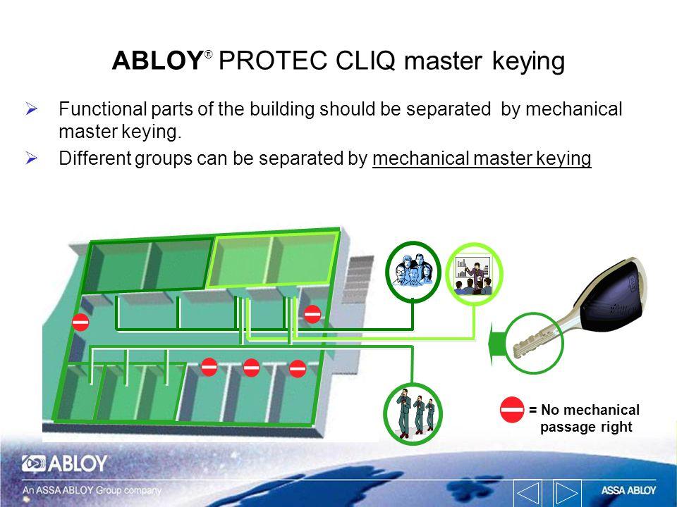 ABLOYÒ PROTEC CLIQ master keying