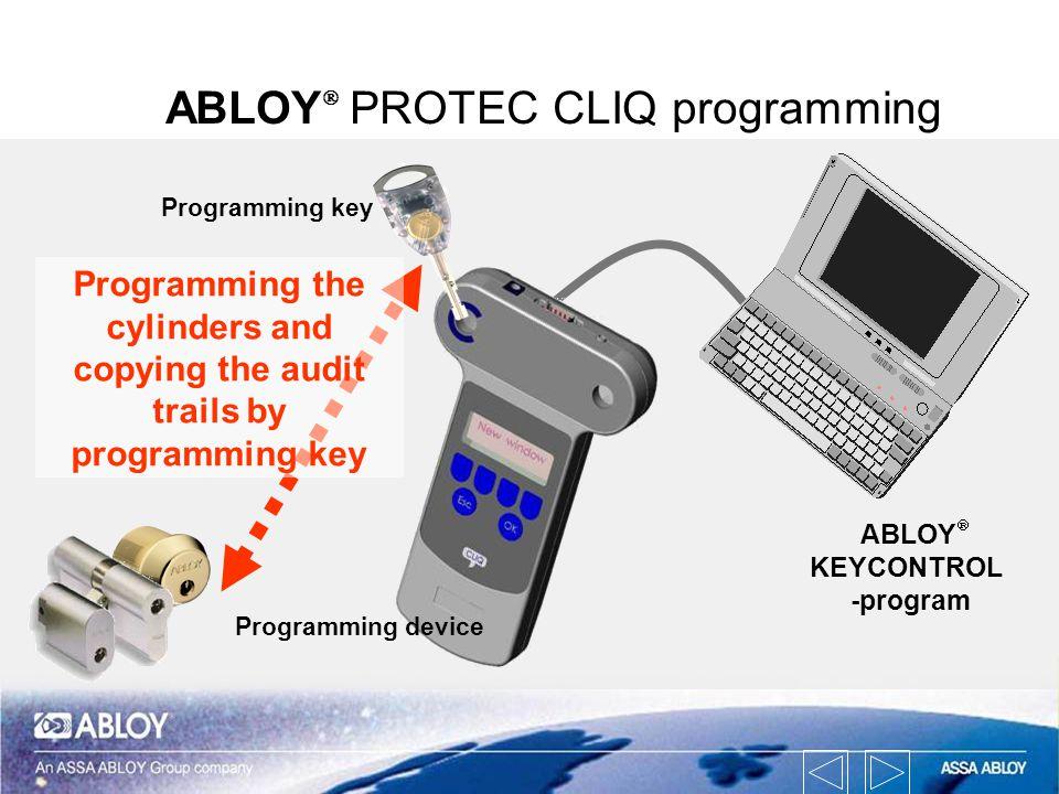 ABLOYÒ PROTEC CLIQ programming