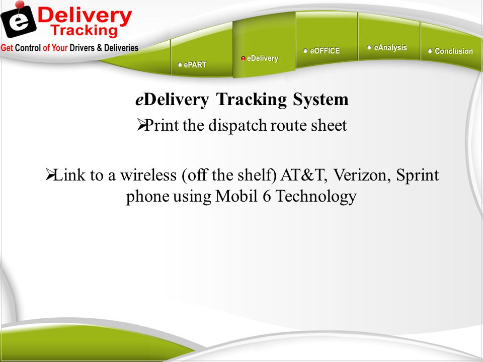eDelivery Tracking System