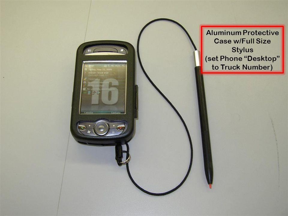 Aluminum Protective Case w/Full Size Stylus