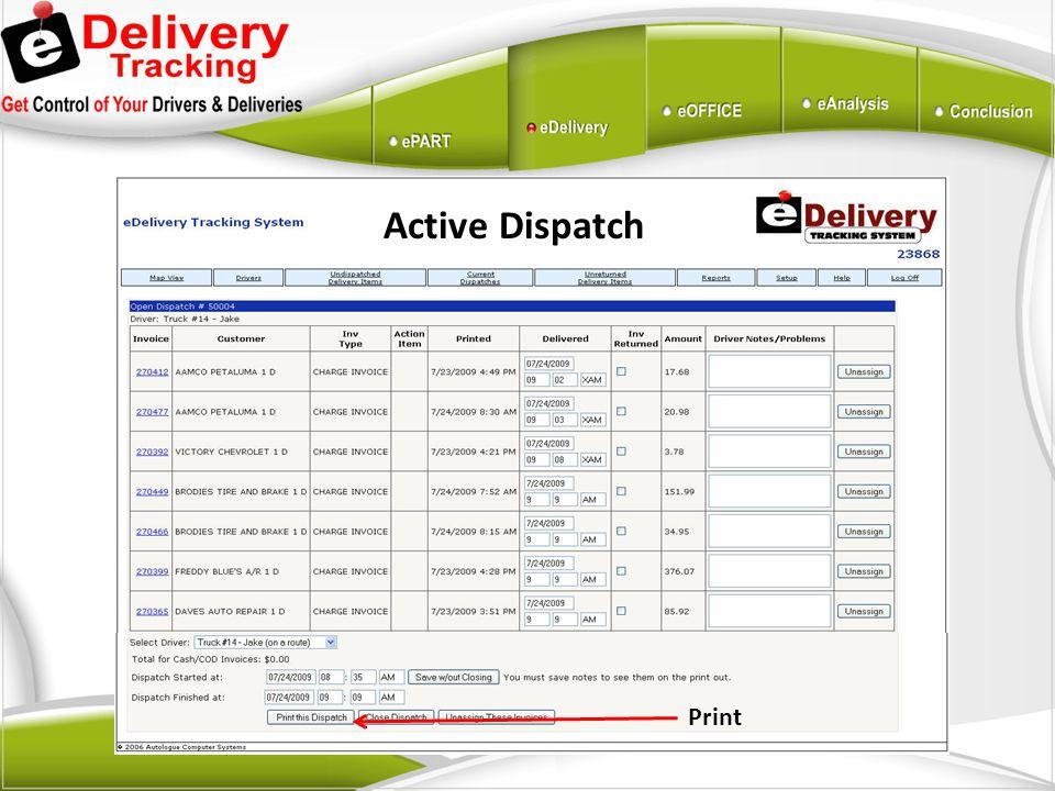 Active Dispatch Print