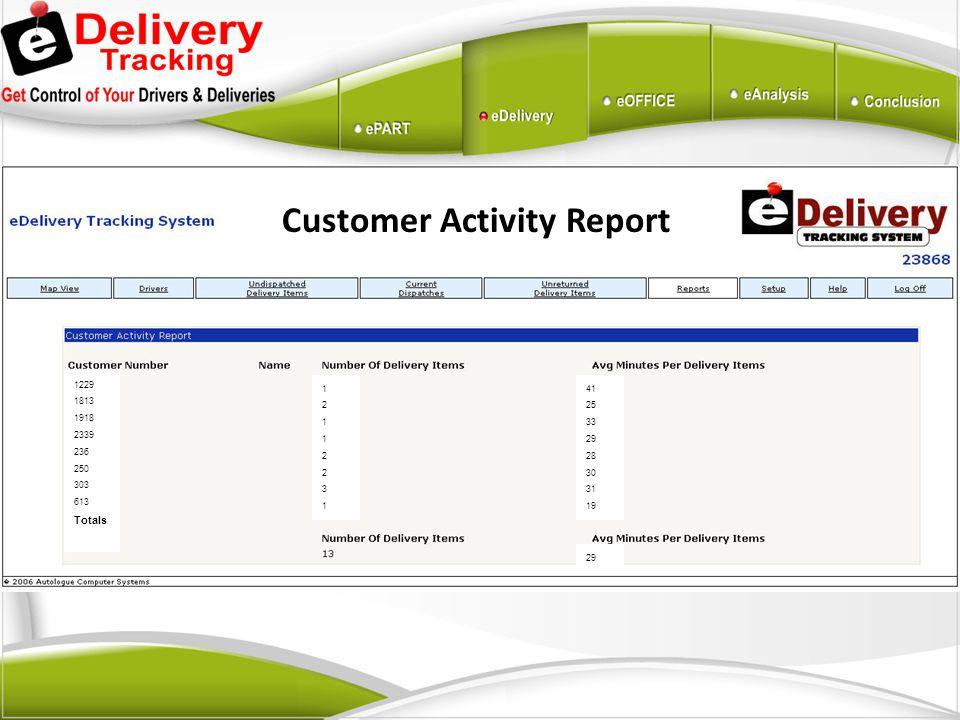 Customer Activity Report