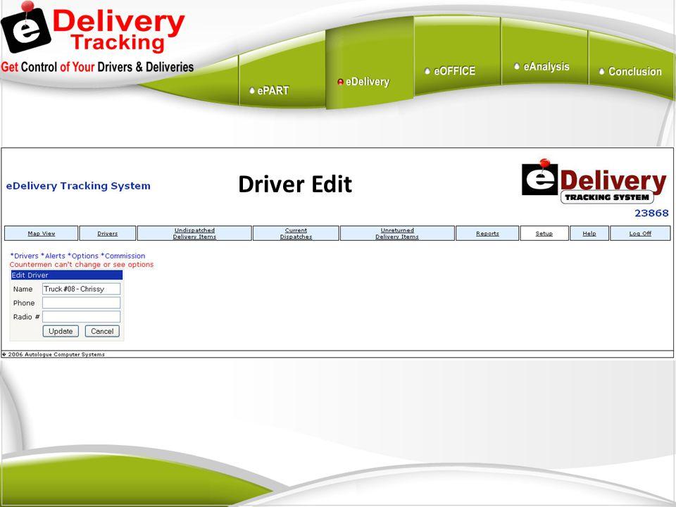 Driver Edit