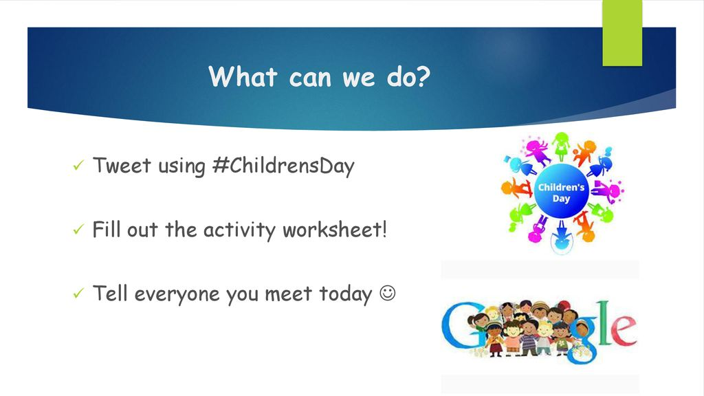What can we do Tweet using #ChildrensDay