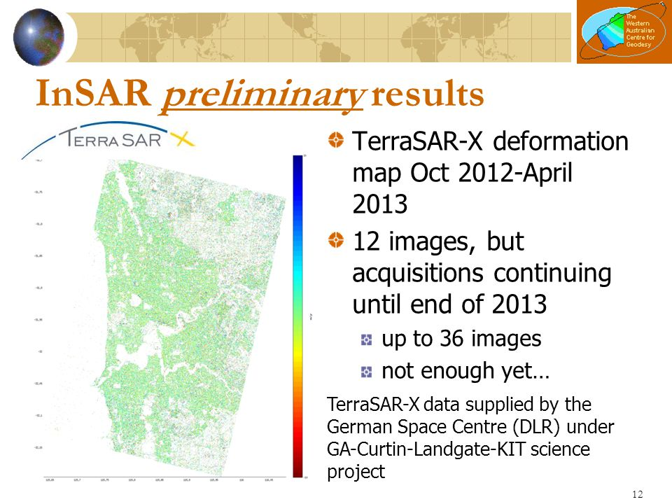 InSAR preliminary results