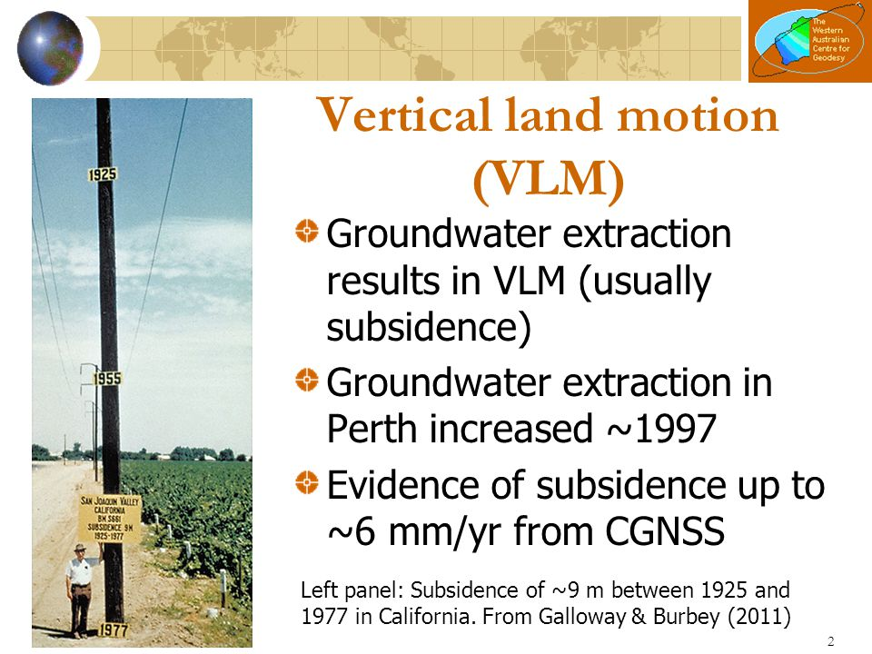 Vertical land motion (VLM)