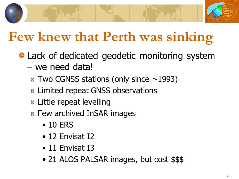 Few knew that Perth was sinking