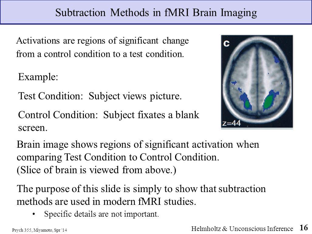 Subtraction Methods in fMRI Brain Imaging