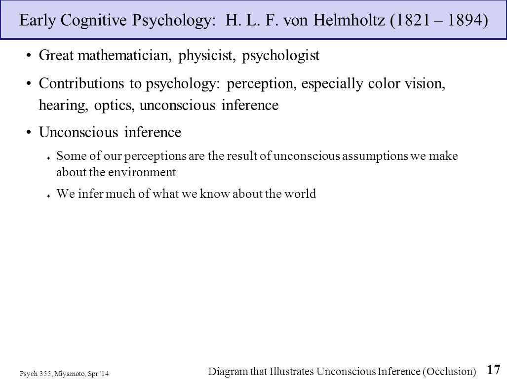 Early Cognitive Psychology: H. L. F. von Helmholtz (1821 – 1894)