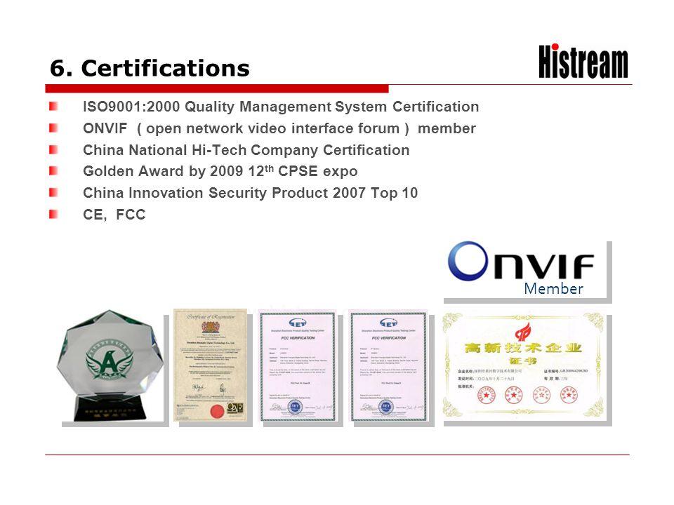 6. Certifications Member