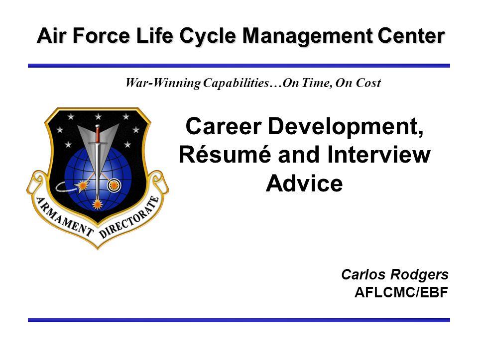 Career Development, Résumé and Interview Advice