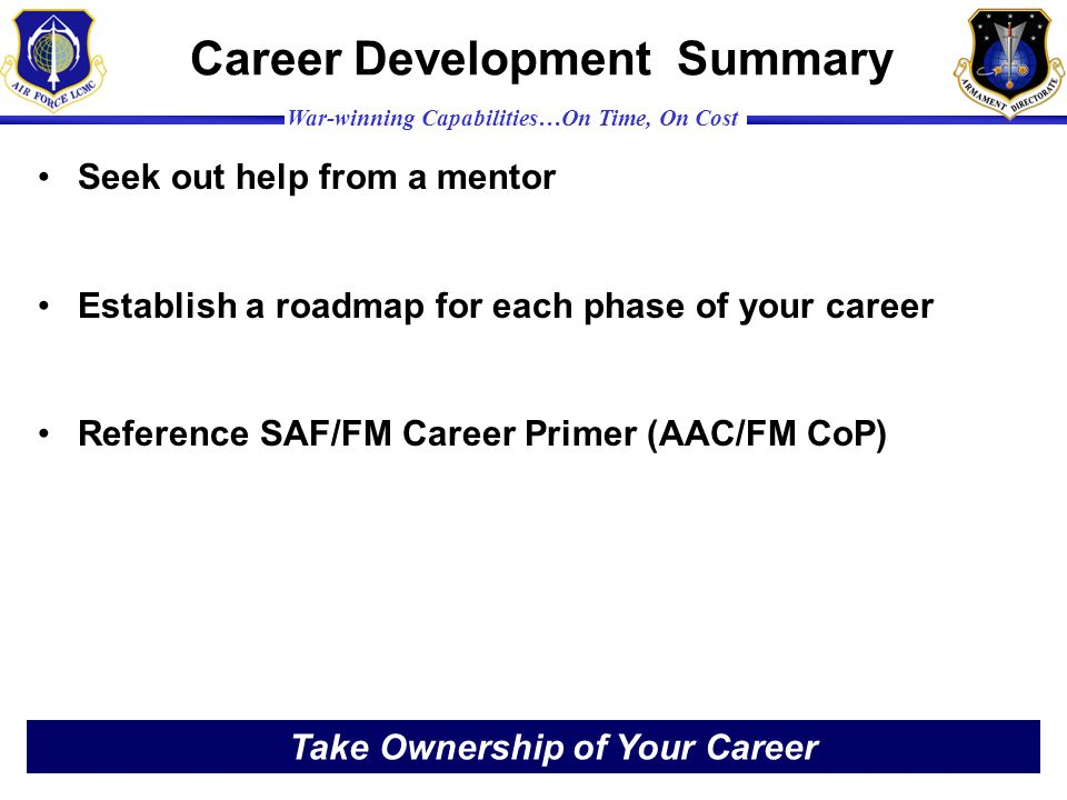 Career Development Summary