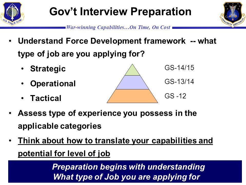 Gov't Interview Preparation