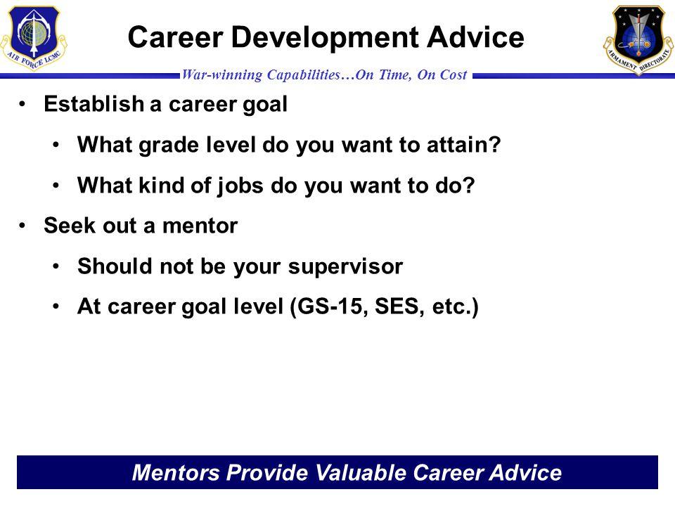 Career Development Advice